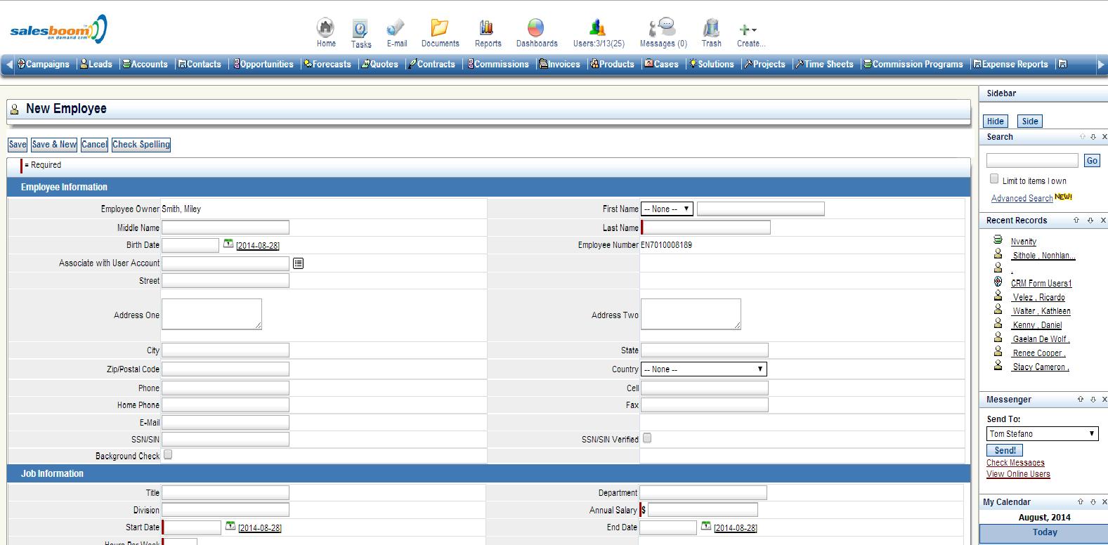 Employee Management Software Screenshots